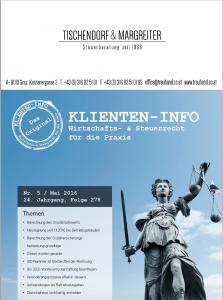 Klienteninfo 05/2016