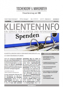 Klienten Info 04 /2018